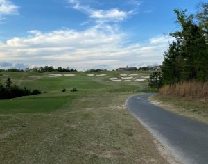 hole with bunkers at Carolina Lakes Golf Course in Indian Land, SC