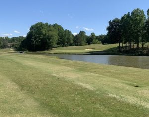 17th hole at Deer Brook Golf Club in Shelby, NC