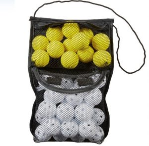 foam and wiffle practice golf balls