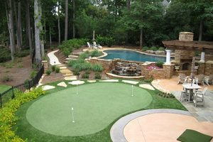 backyard putting green in charlotte nc