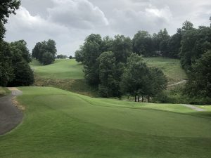 Rock Barn Country Club Jackson Course first hole in Conover, NC