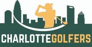Charlotte Golfers Logo with Charlotte skyline and golfer