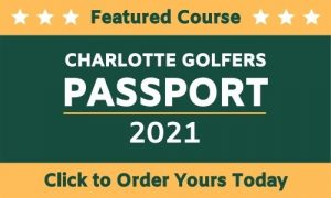 badge showing a featured course on the Charlotte Golfers Passport